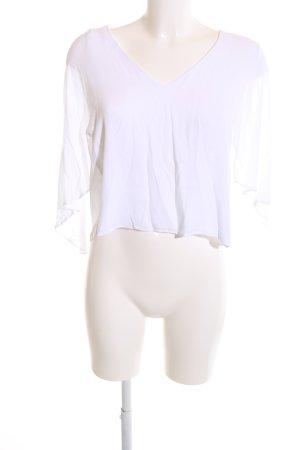 Zara Woman Volanttop weiß Casual-Look