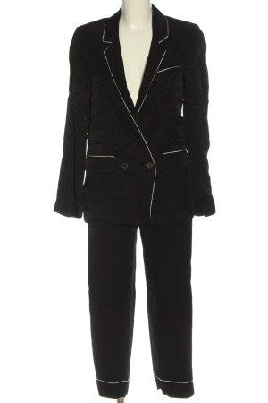Zara Woman Twin Set tejido negro-blanco puro elegante