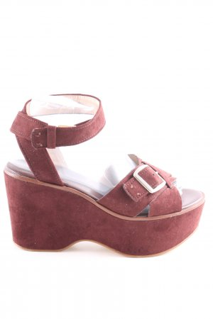 Zara Woman Wedges Sandaletten rot Casual-Look