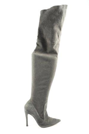 Zara Woman Wide Calf Boots light grey casual look