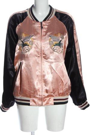 Zara Woman College Jacket black-pink casual look