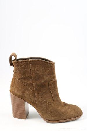 Zara Woman Stivaletto western marrone stile casual