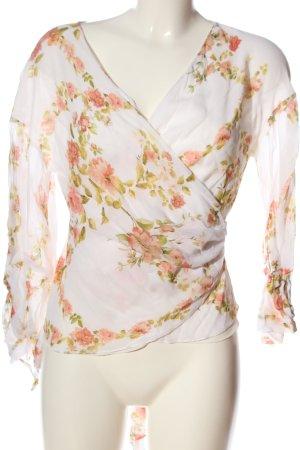 Zara Woman Wraparound Blouse allover print casual look