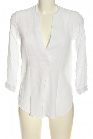 Zara Woman Blusa cruzada blanco look casual