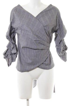 Zara Woman Wraparound Jacket check pattern business style