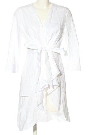 Zara Woman Wickelkleid weiß Casual-Look