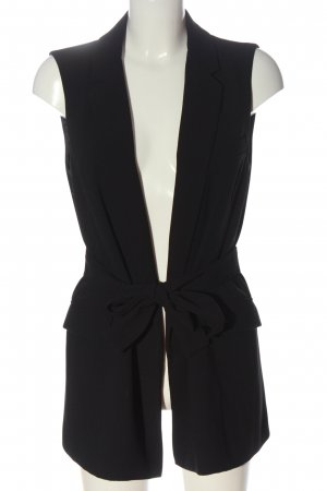 Zara Woman Chaleco de vestir negro look casual