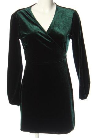 Zara Woman Kopertowa sukienka zielony Elegancki
