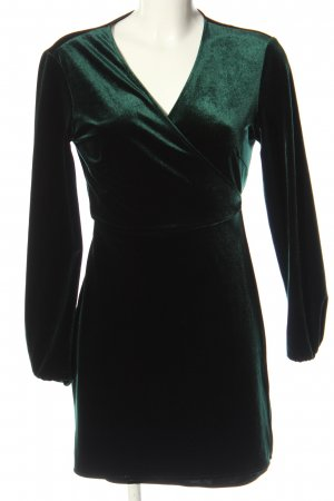 Zara Woman Wickelkleid grün Elegant