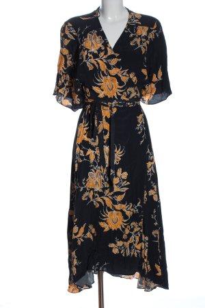 Zara Woman Robe portefeuille imprimé allover style décontracté