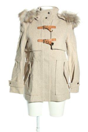 Zara Woman Winterjacke wollweiß Casual-Look