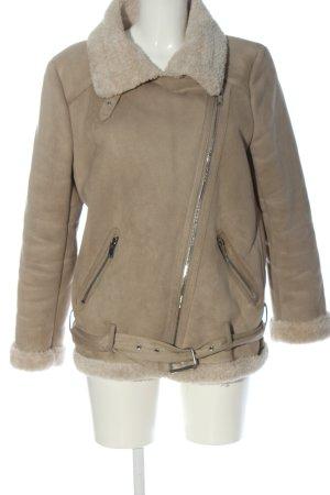 Zara Woman Kurtka zimowa kremowy W stylu casual