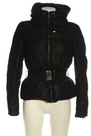 Zara Woman Kurtka zimowa czarny Wyhaftowany logo W stylu casual