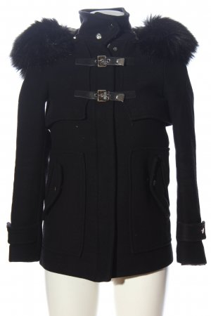 Zara Woman Wintermantel schwarz Casual-Look