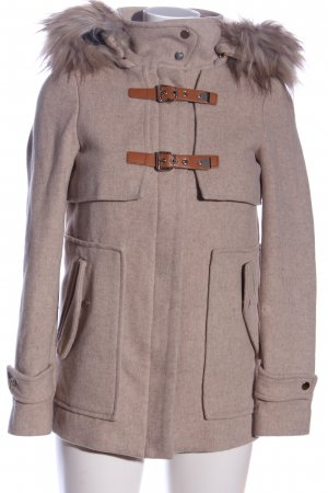 Zara Woman Wintermantel braun meliert Casual-Look