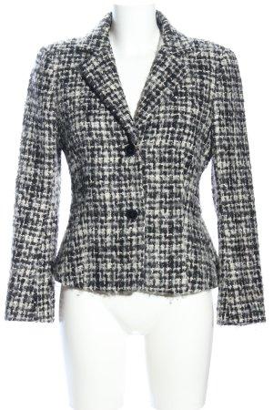 Zara Woman Woll-Blazer schwarz-hellgrau meliert Business-Look