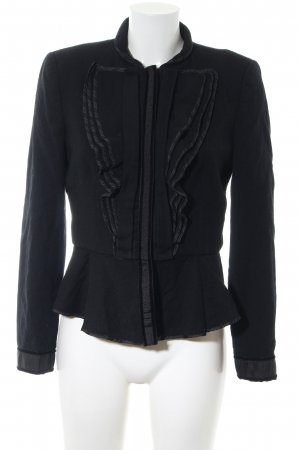 Zara Woman Woll-Blazer schwarz Business-Look