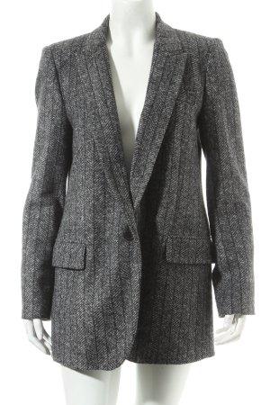 Zara Woman Blazer de lana gris moteado look Street-Style