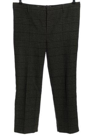 Zara Woman Wollhose hellgrau Allover-Druck Business-Look