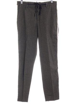 Zara Woman Wollhose khaki Streifenmuster Casual-Look