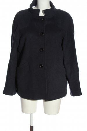 Zara Woman Wolljacke blau Casual-Look