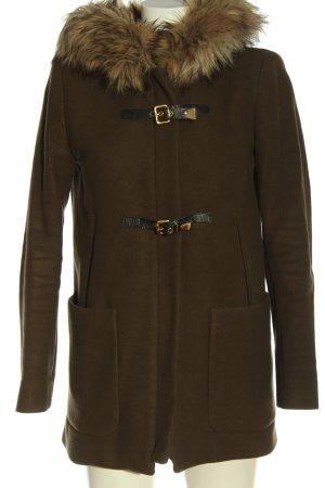 Zara Woman Wolljacke braun Casual-Look