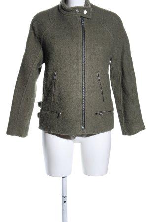 Zara Woman Wolljacke khaki Business-Look