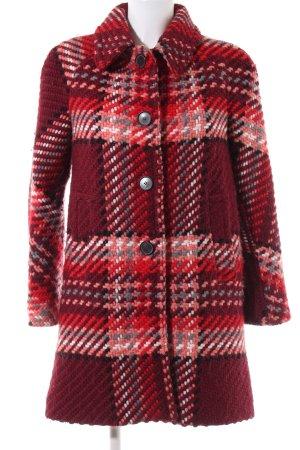 Zara Woman Cappotto in lana rosso stampa integrale stile professionale