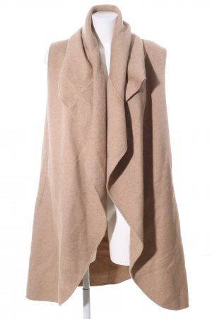 Zara Woman Wollmantel nude meliert Casual-Look
