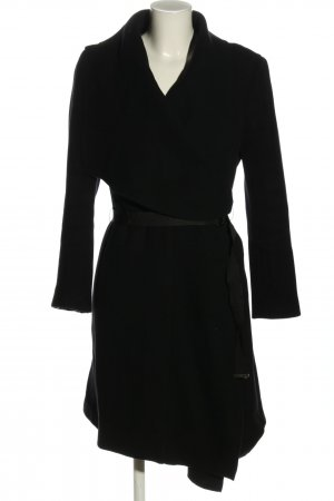 Zara Woman Wollmantel schwarz Business-Look