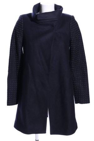 Zara Woman Wollmantel blau Casual-Look