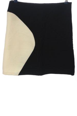 Zara Woman Wollrock schwarz-creme Casual-Look
