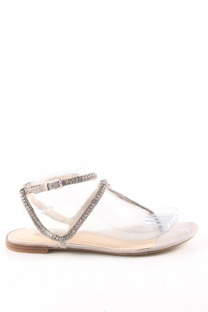 Zara Woman Sandalias con talón descubierto blanco puro elegante