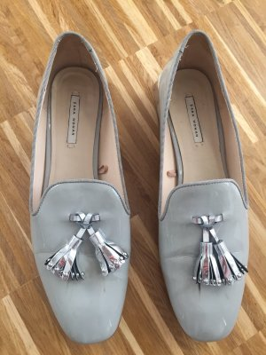 Zara Woman Moccasins pale blue