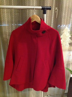Zara Woman Cape dark red
