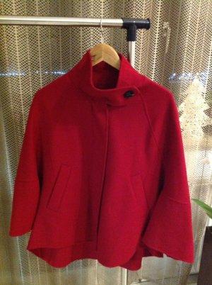 Zara Woman Mantella rosso scuro