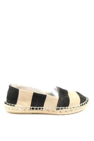 Zara Women Espadrille Sandals cream-black striped pattern casual look