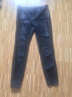 Zara Woman Pantalon cigarette noir faux cuir