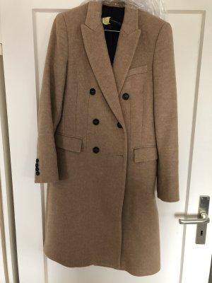 Zara Woman Cappotto in lana marrone marrone chiaro Lana