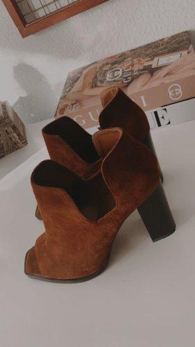 Zara Woman Botines estilo vaquero marrón