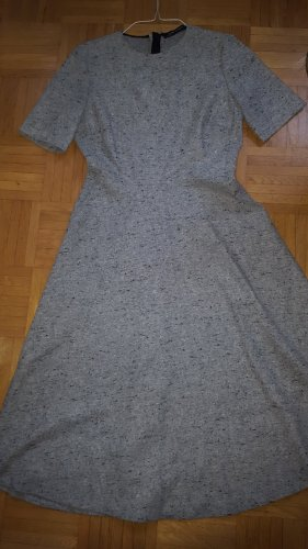 Zara Woman Woolen Dress light grey-grey wool