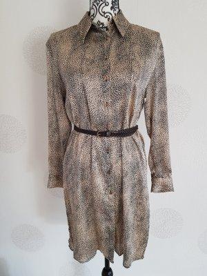 Zara wunderschöne Bluse Kleid langarm Gr.S 36 leoprint Neu mit Etikett