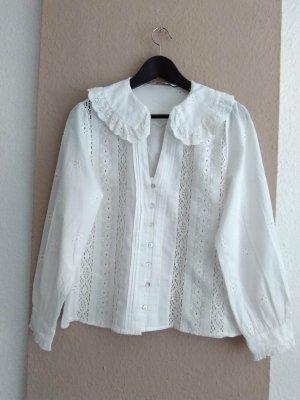 Zara wunderschöne gestickte Hemdbluse aus 100% Baumwolle, Grösse S, neu