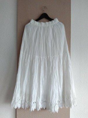 Zara wunderschöner Midirock mit Spitzen, aus 100% Baumwolle, Grösse XS, neu