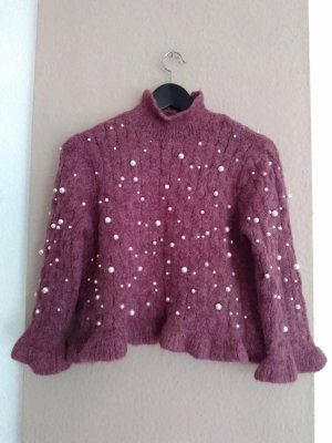 Zara wunderschöner Pullover mit Perlenbesatz, Grösse M, neu