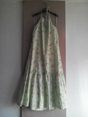 Zara wunderschönes geblümtes Neckholder Midi-Trägerkleid aus 100% Baumwolle, Grösse M, neu