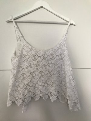 Trafaluc by Zara Crochet Top white