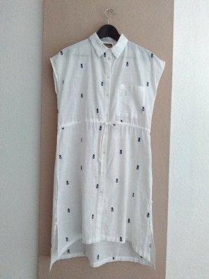 Zara wunderschönes Hemblusenkleid mit Ananas-Stickerei aus 100% Baumwolle, Größe S