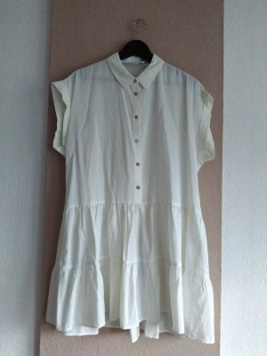 Zara wunderschönes Minikleid in wollweis mit Schmuckknöpfen, Grösse M, neu