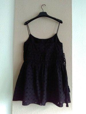 Zara wunderschönes Träger Minikleid mit Lochstickerei aus 100% Baumwolle, Grösse S, neu